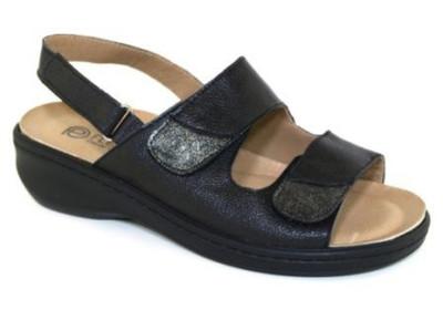 Flexipiel Women's Nappa Sandal Black