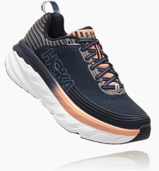 Hoka Women's Bondi 6 Mood Indigo / Dusty Pink