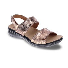 Revere Como Women's Sandal Bronze Snake - 34COMOBSKW