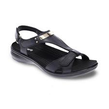 Revere Santa Monica Women's Strap Sandal Black - 34SANMBLKW