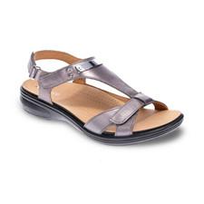 Revere Santa Monica Women's Strap Sandal Guntmetal - 34SANMGUNW