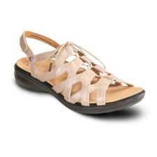 Revere Malibu Women's Ghillie Back Strap Sandal Champagne - 34MALICHAW
