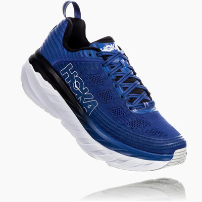 Hoka Men's Bondi 6 (WIDE) 2E Galaxy Blue / Anthricite