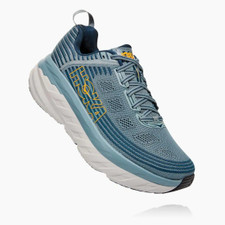 Hoka Men's Bondi 6 (WIDE) 2E Lead / Majolica Blue