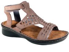 Naot String Women's Stone Nubuk Slvr Thr Sandal - 35123 W4J