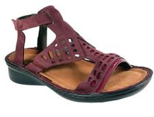 Naot String Women's Violet Nubk Beet Red Combo Sandal - 35123 RM4