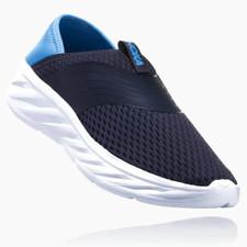 Hoka Ora Recovery Shoe - Ebony / Dresden Blue