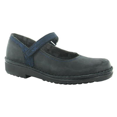 Naot Hilda Women's Coal Nubuck/Navy Reptile Leather Shoes - 63076 NHB