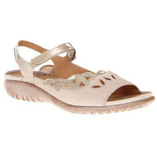 Naot Nikau Women's Linen Leather/Pearl Patent Leather