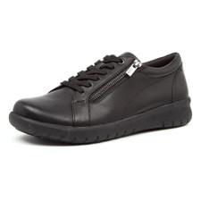 Ziera Solar XF Women's Black Leather - ZR10058BLALE