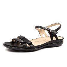 Ziera Women's Breeze W-ZR Black Leather Sandal - ZR10087-BLA-LE - Black