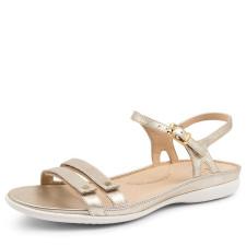 Ziera Women's Breeze W-ZR Pale Gold Leather Sandal - Gold