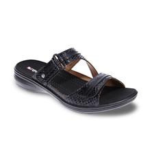 Revere Women's Rio Slide Black Snake Sandal - 34RIOBLSW