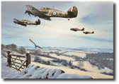 Winter Combat  Aviation Art
