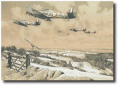 Winter Combat - Masterwork Drawing (A/P)  Aviation Art