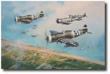 Hell Hawks Over Utah  Aviation Art