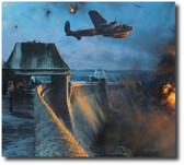 The Dambusters - Last Moments of the Möhne Dam  Aviation Art