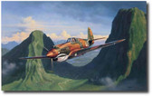 Tigers In The Pass by Jim Laurier -  P-40 Warhawk