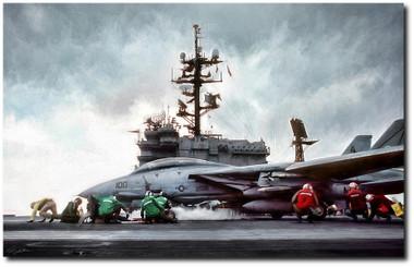 Catapult Crew Aviation Art