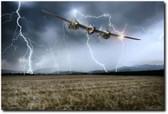 Lightning Encounter Aviation Art