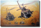 Guns Up by Joe Kline - UH-1C Huey Gunship Aviation Art