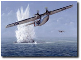 Cats Have Claws by Don Feight - WW II PBY Catalina Aviation Art