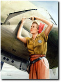 Rosie and the Fork-Tailed Devil by Don Feight - P-38 Lightning Aviation Art