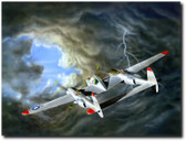 Lightning by  Don Feight - Lockheed P-38 Lightning Aviation Art