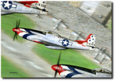 1947 Thunderbird by Don Feight - P-51 Mustang Aviation Art