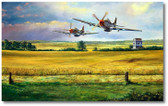Hurryin' Home Horses by Rick Herter - P-51 Mustang Aviation Art