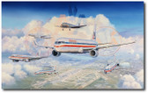 Past, Present and Future by Rick Herter Aviation Art