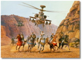 Sword of Thunder by Rick Herter - Boeing AH-64 Apache Aviation Art