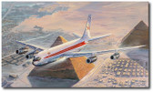 Turning Final for Cairo by Rick Herter - TWA Boeing 707 Aviation Art