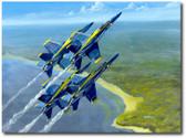 Blue Skies by Bryan David Snuffer - F/A-18 Hornet - Blue Angels
