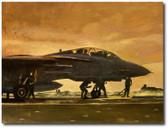 Indian Ocean Sunrise by Bryan David Snuffer -  F-14A Tomcat Aviation Art