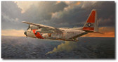 SAR by Bryan David Snuffer - HC-130H Hercules Aviation Art
