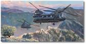 Turbine 33 by Bryan David Snuffer - MH-47D Chinook  Aviation Art