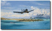 Black Sheep at Munda by Jim Laurier - VMF-214 - Aviation Art