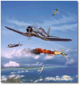 Pappy Boyington by Jim Laurier Aviation Art
