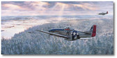 George Preddy's Last Chase by Jim Laurier - Focke-Wulf Fw 190 Aviation Art