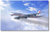 DC-8 Friend Ship by Mark Karvon - Douglas DC-8 Aviation Art