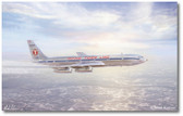 Flying Tiger Pole Cat by Mark Karvon - Boeing 707B  Aviation Art