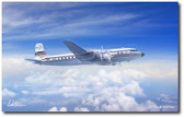 Golden Age Propliner by Mark Karvon- Douglas DC-7  Aviation Art