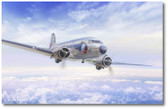 The Great Silver Fleet by Mark Karvon - Douglas DC-3  Aviation Art