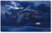 Lady in the Dark by Mark Karvon- Northrop P-61 Black Widow Aviation Art