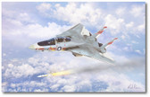 Prowling Wolf by Mark Karvon - Grumman F-14 Tomcat Aviation Art