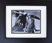 Amelia Earhart in Front of Biplane Aviation Art
