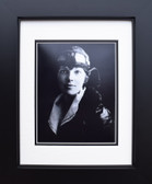 Amelia Earhart in flight Gear - B&W Aviation Art