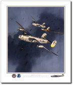 Liberators Over the Target Aviation Art