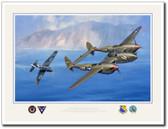 Lightning Over the Bay of Naples Aviation Art